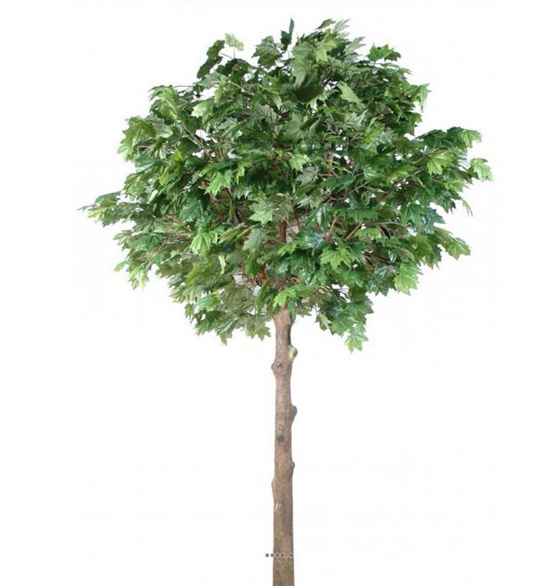 platane arbre artificiel tronc fibre de verre et bois feuillage