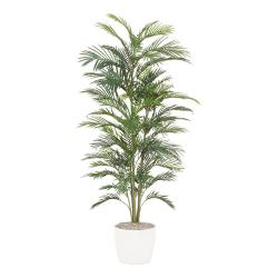 Palmier Areca artificiel H 90 cm 4 troncs pot ceramique
