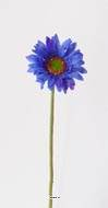 Gerbera artificiel H 48 cm D 8 cm superbe Bleu royal
