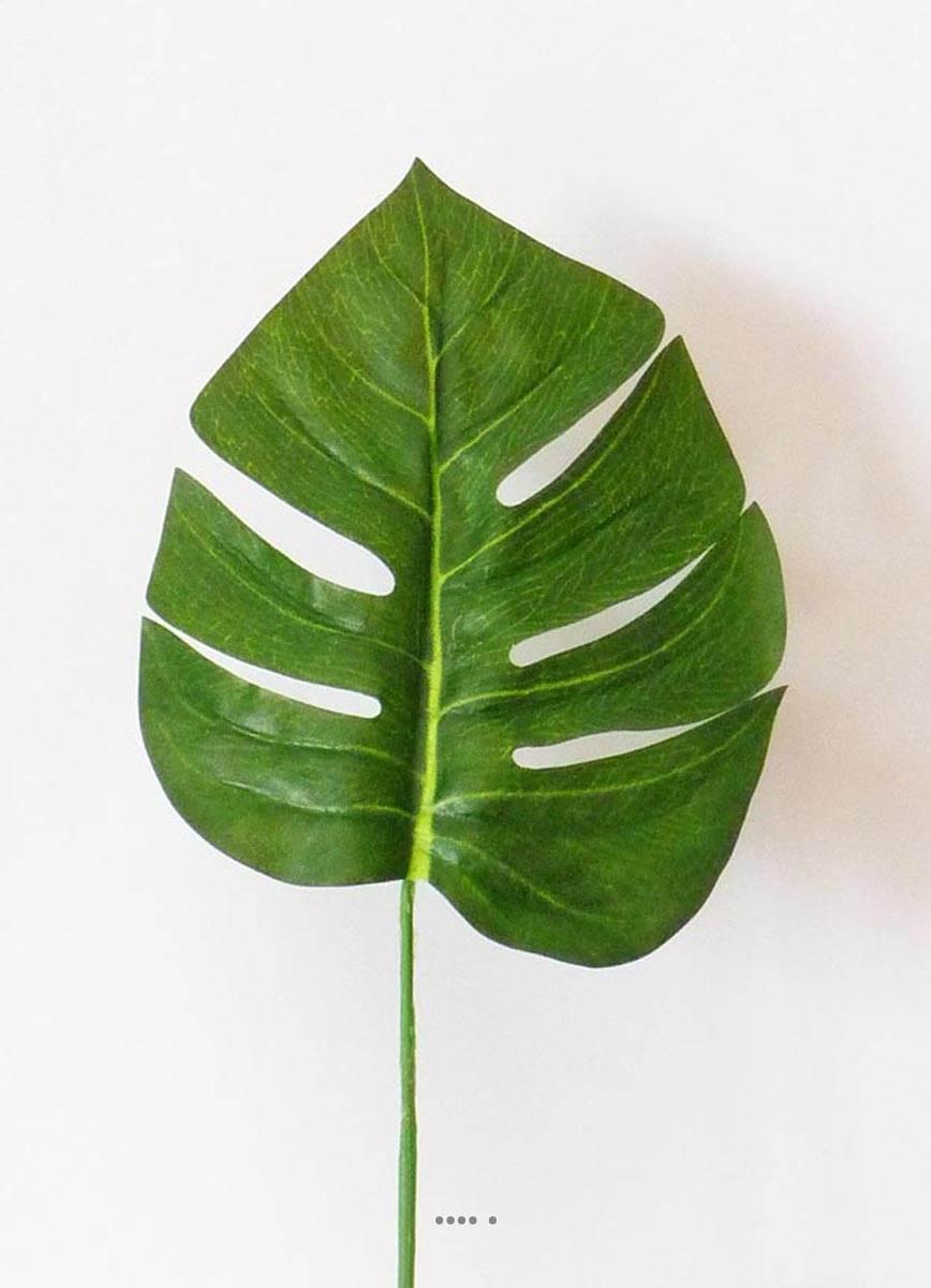 Feuille de philodendron h 45 cm tissu enduit pour for Feuille de palmier deco