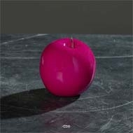 Pomme artificielle Fushia brillante D9cm Superbe en Decoration