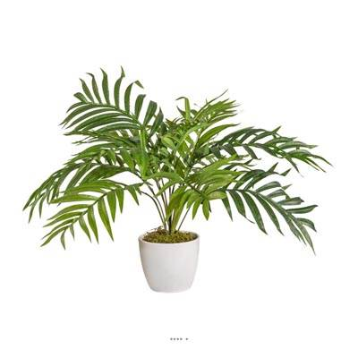 Palmier Areca artificiel en pot ceramique H 60 cm Superbe