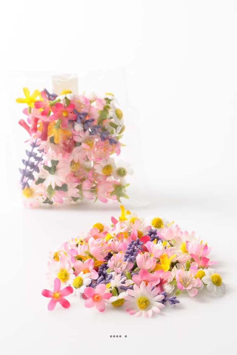 Tetes de fleurs artificielles des champs variees x 60 du site - Fleurs artificielles pour mariage ...