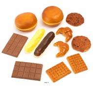 Viennoiseries artificielles assorties en lot de 12 en Plastique soufflé