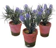 Lot de 3 Lavandes artificielles en pot