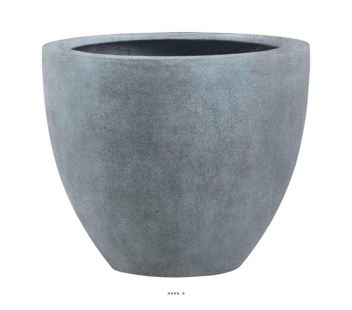 Bac fibre de verre farn eggpot haut gris fonce ext du site for Gros pot exterieur couleur