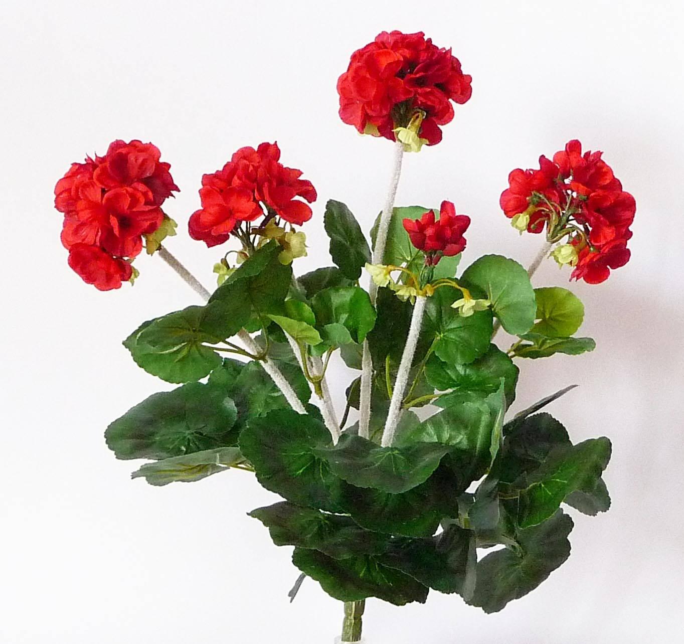 geranium artificiel en piquet h 33 cm 6 tetes 37 feuilles du site. Black Bedroom Furniture Sets. Home Design Ideas