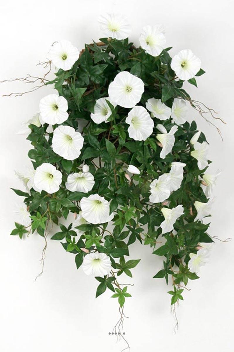 ipomee liseron artificiel retombant en pot h 60 cm superbes fleurs