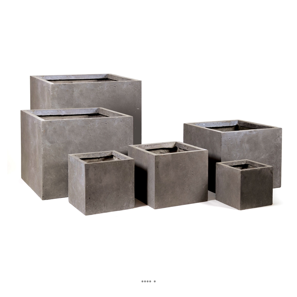 bac cube fibre de terre taupe pour ext rieur terrasse et jardin du site. Black Bedroom Furniture Sets. Home Design Ideas