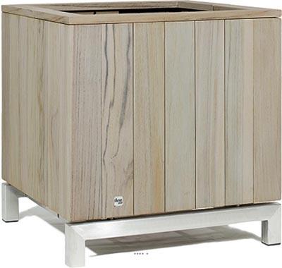 bac en teck massif tecky exterieur cube du site pas cher. Black Bedroom Furniture Sets. Home Design Ideas