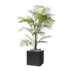Palmier Areca artificiel H 195 cm en plastique anti-UV en pot