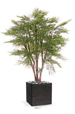 Mimosa d'hiver artificiel en pot, anti-UV, H 110 cm