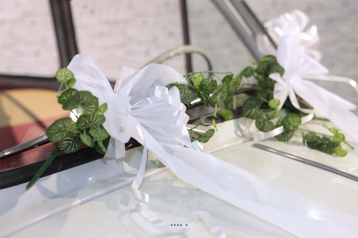Kit decoration mariage pour voiture complet tout en un du site artificielles - Site decoration mariage ...