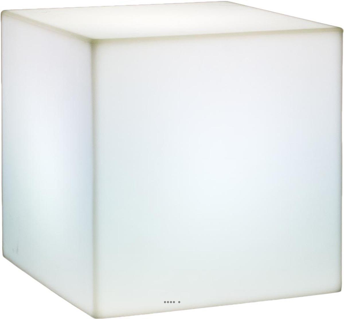 Bac lumineux en plastique lighty exterieur boule blanc du - Cube lumineux led pas cher ...