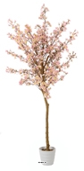 Cerisier Prunus du Japon artificiel H 180 cm Rose tendre