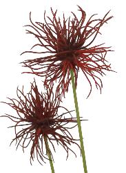 Xanthium artificiel H 64 cm Rouge