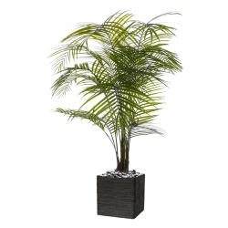 Palmier Areca artificiel H 175 cm en plastique anti-UV en pot