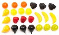 Fruits petits artificiels assortis en lot de 24 en Plastique soufflé