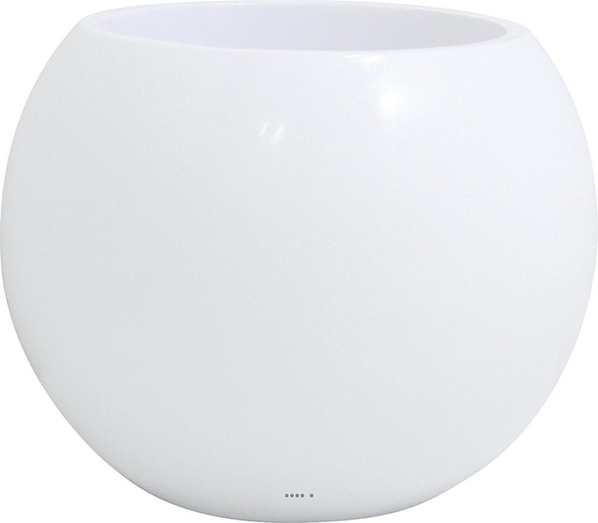 Bac en resine et fibre cody exterieur boule blanc du site for Bac en resine exterieur