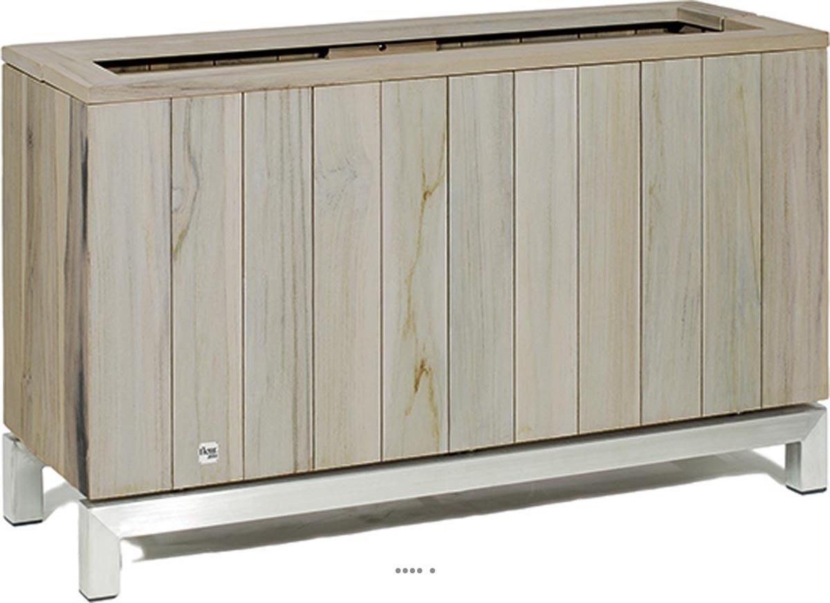 bac en teck massif tecky pour l exterieur du site. Black Bedroom Furniture Sets. Home Design Ideas