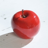 Pomme artificielle rouge brillante D6 5cm Superbe en Decoration