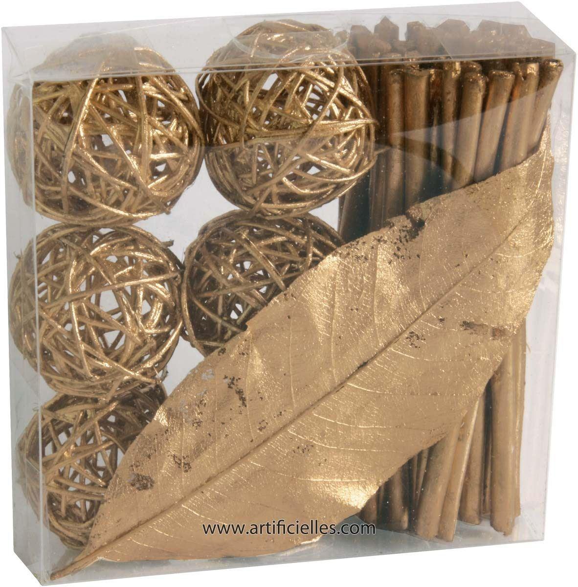 Kit d co rotin 6 fagots 6 boules 1 feuille du site - Peindre du rotin tresse ...
