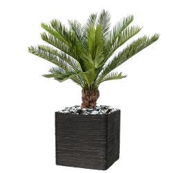 palmiers artificiels en pot grand et petits faux. Black Bedroom Furniture Sets. Home Design Ideas