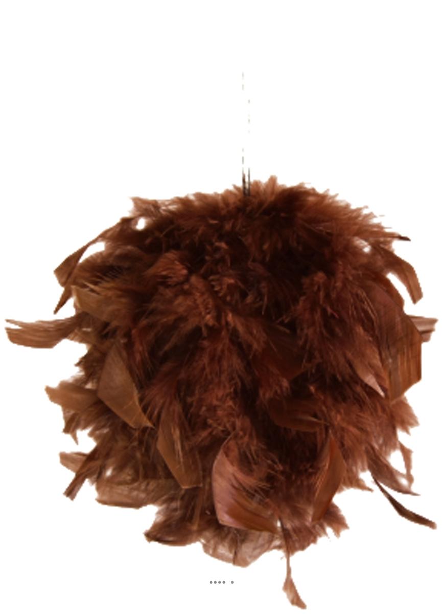 Boule De Plume A Suspendre boule de plumes chocolat a suspendre d 12 cm