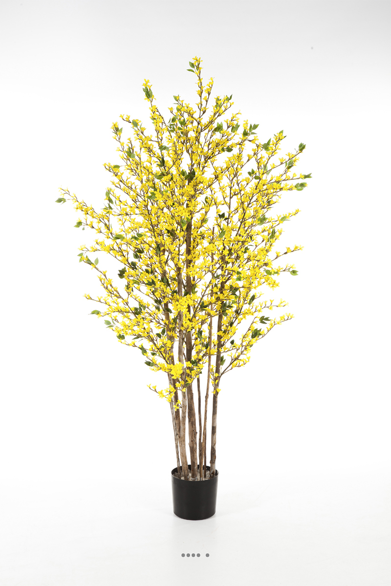 forsythia artificiel arbre en pot tronc naturel du site. Black Bedroom Furniture Sets. Home Design Ideas