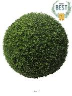 Boule de buis factice feuilles PE protection UV H 60 cm Vert - BEST