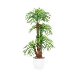 Palmier Areca artificiel H 160 cm en pot ceramique