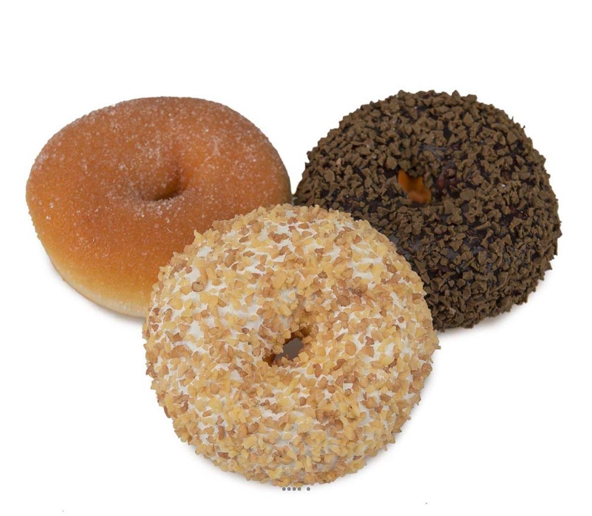 Gateaux donuts artificiels x3 chocolat aliment factice for Arbre factice
