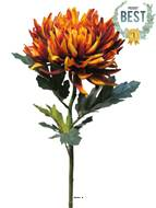 Chrysanthème artificiel, H 63 cm Orange