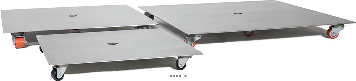 plateau a roulettes en acier inox plateau roulant exterieur du site pas cher. Black Bedroom Furniture Sets. Home Design Ideas