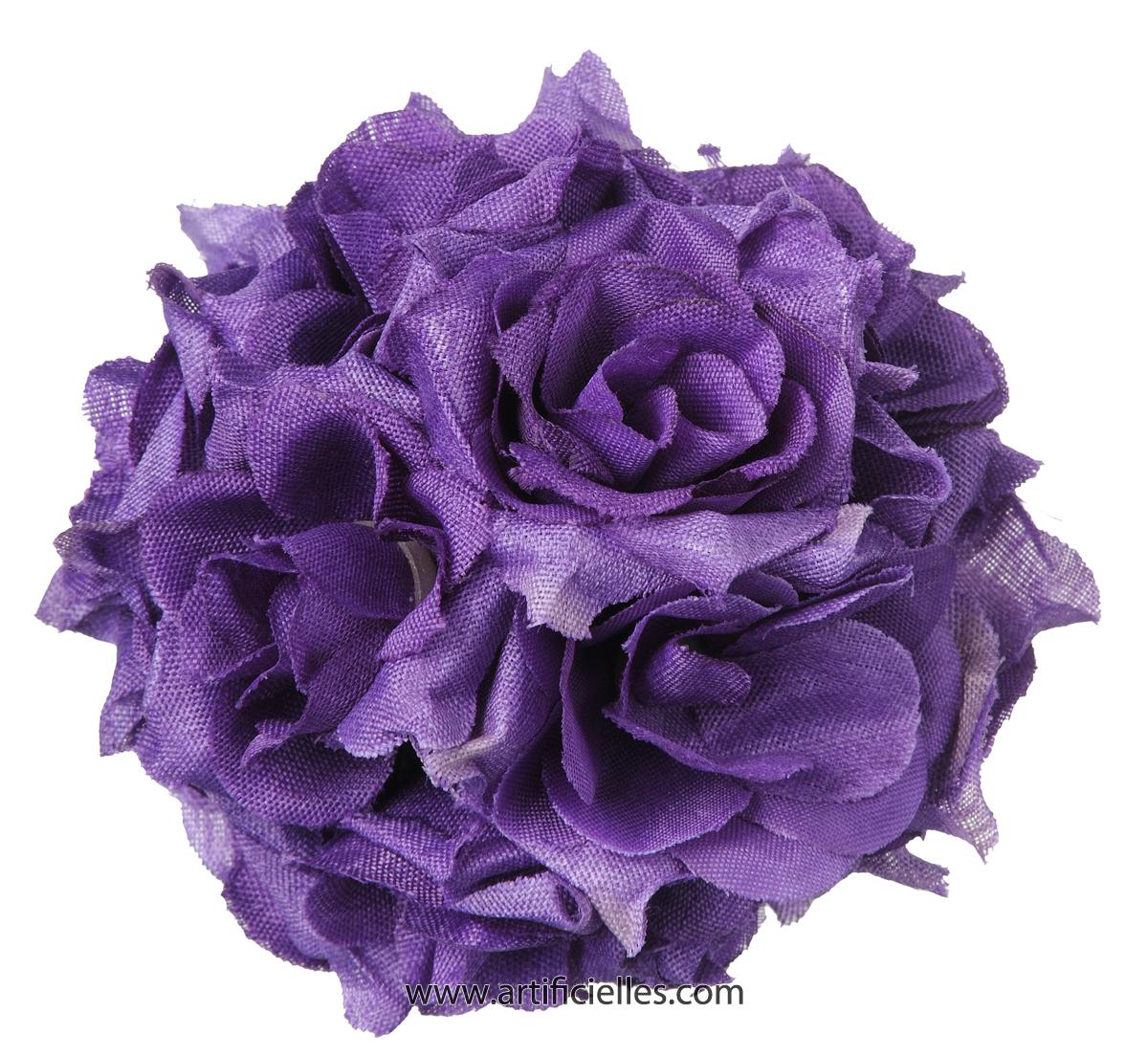 Tetes De Rose Artificielle X 24 D 5 Cm Pour Boule De Rose Du Site