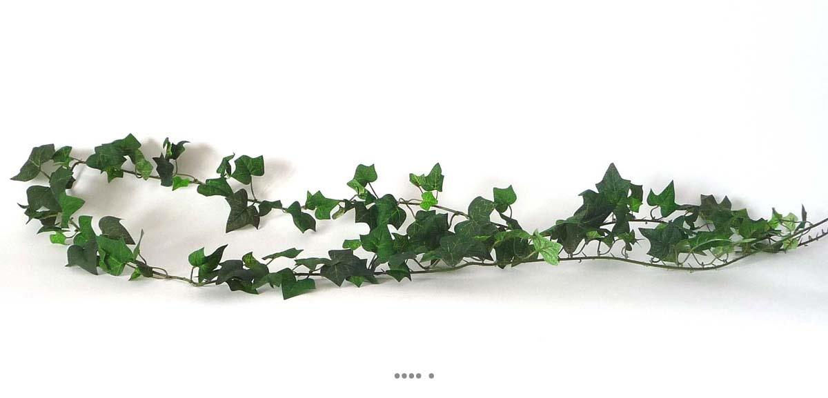 Guirlande de lierre artificiel 180 cm 137 feuilles vert du for Lierre artificiel