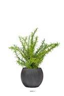 Romarin artificiel, herbe aromatique, en pot H 35 cm, D 28 cm