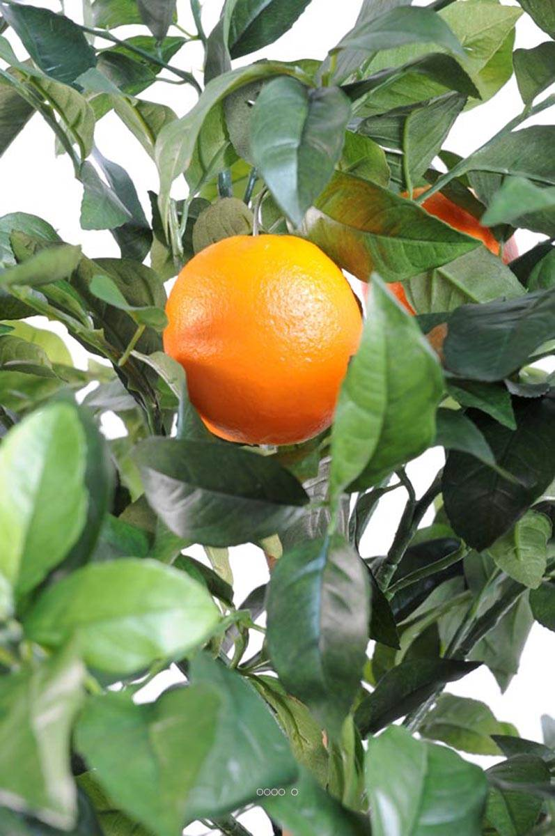oranger artificiel tronc naturel en pot avec fruits du. Black Bedroom Furniture Sets. Home Design Ideas