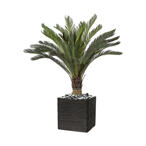 Palmier Artificiel Cycas H 130 cm en pot superbe