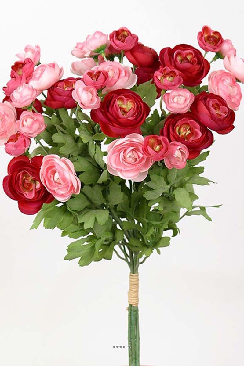 Bouquet de fleurs artificielles renoncule h 44 cm tr s for Roses artificielles