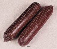 Saucisson Sec Fume artificiel X 2 en Plastique soufflé L 400x90 mm