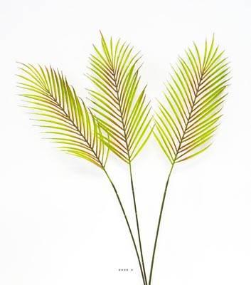 Feuilles artificielles de palmier phoenix x3 plastique h - Feuille de palmier artificielle ...