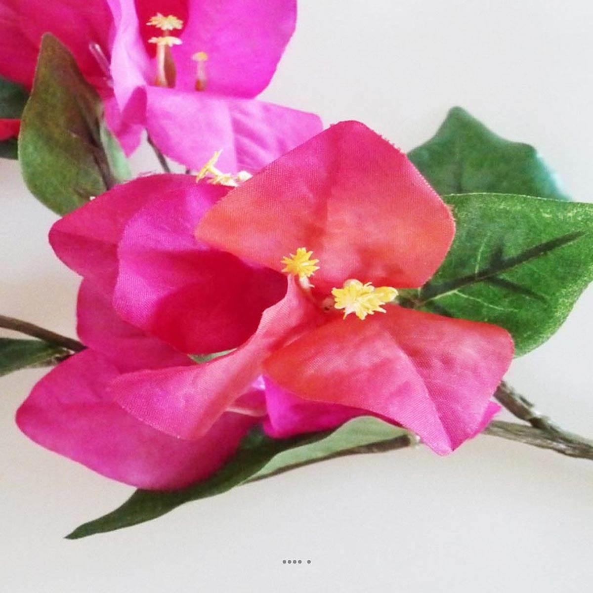 bougainvillier fleur artificielle h 44 cm superbe de realisme rose