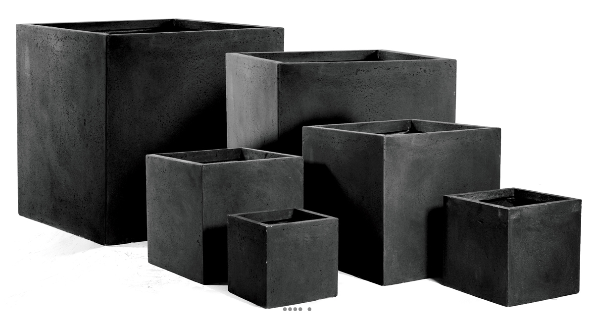 bac cube fibre de terre noir pour ext rieur terrasse et jardin du site. Black Bedroom Furniture Sets. Home Design Ideas