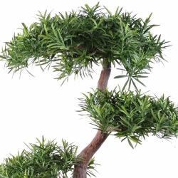 Bonsaï Podocarpus Artificiel H 100 cm D 70 cm en pot