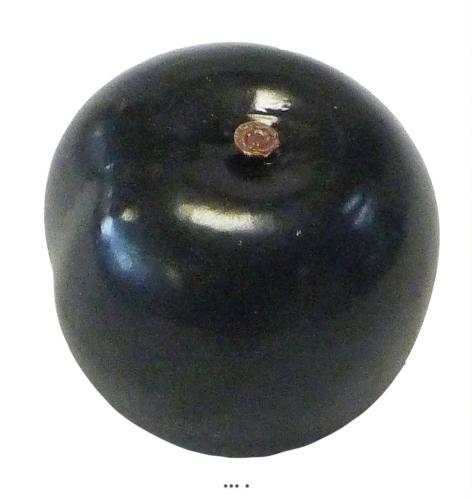 Prune Noire artificielle Fruit factice D 6 cm lesté