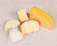 Assortiment de 5 fromages en lot de 5 en Plastique soufflé L 60-155 mm