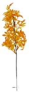 Branche de feuilles de Papaye artificielle H 35 cm plastique ext Jaune-orange