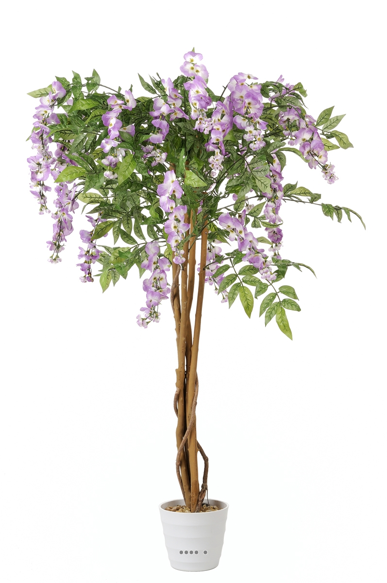 Glycine artificielle superbe h 120 cm rose soutenu du site for Belle plante artificielle