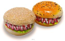 Hamburgers X2  D 10 cm et H 6 cm Mousse PU aliment factice décoration
